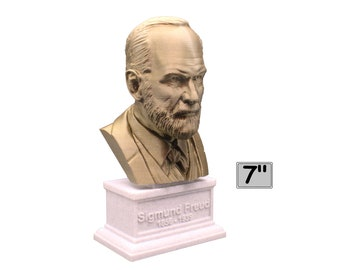 Sigmund Freud Austrian Neurologist and founder of Psychoanalysis 7 inch 3D Printed Bust