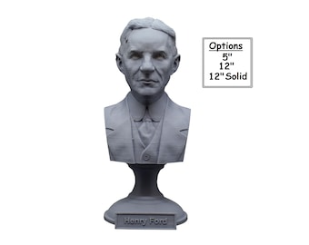 Henry Ford American Industrialist and Business Magnate 3D Printed Bust