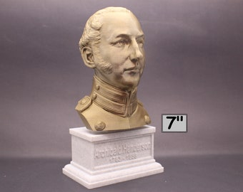 "Archibald Henderson USMC ""Grand old Man of the Marine Corps"" Commandant 7 inch 3D Printed Bust"