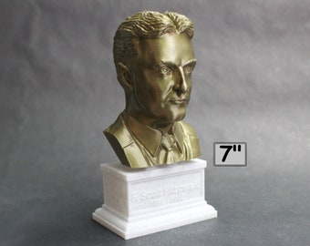 F. Scott Fitzgerald, Famous American Writer 7 inch 3D Printed Bust