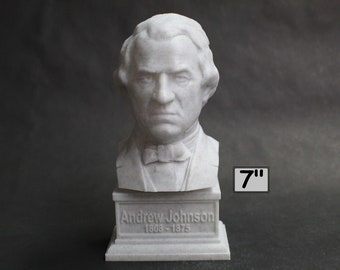 Andrew Johnson USA President #17 7 inch 3D Printed Bust