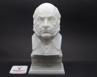 John Quincy Adams USA President #5 7 inch 3D Printed Bust