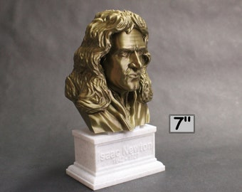 Sir Isaac Newton Famous English Mathematician, Physicist and Astronomer 7 inch 3D Printed Bust