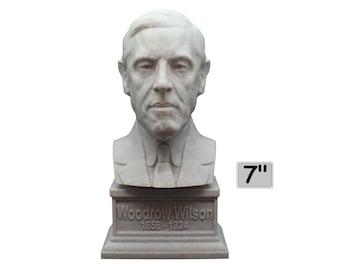 Woodrow Wilson USA President #28 7 inch 3D Printed Bust