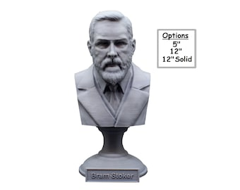 Bram Stoker Irish Writer 3D Printed Bust