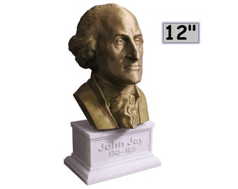 John Jay Founding Father 12 inch 2 color 3D Printed Bust