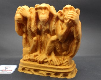 Three Wise Monkeys See No Evil, Hear no Evil, Speak No Evil Statue