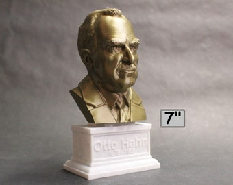 Otto Hahn, German Chemist, Nobel Prize Winner, and Researcher of Radioactivity 7 inch 3D Printed Bust