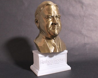 Herbert Hoover USA President #31 12 inch 2 color 3D Printed Bust