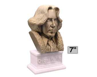 Oscar Wilde, Irish Poet and Playwright 7 inch 3D Printed Bust