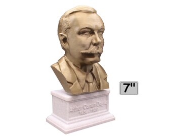 Arthur Conan Doyle British Writer 7 inch 3D Printed Bust