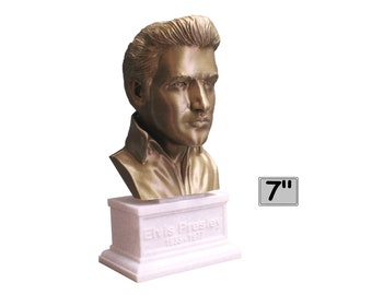 Elvis Presley King of Rock 7 inch 3D Printed Bust