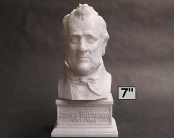 James Buchanan USA President #15 7 inch 3D Printed Bust