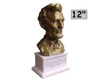 Abraham Lincoln USA President #16 12 inch 2 color 3D Printed Bust