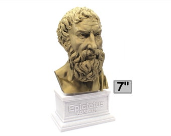Epictetus Greek Stoic Philosopher 7 inch 3D Printed Bust
