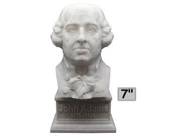 John Adams USA President #2 7 inch 3D Printed Bust