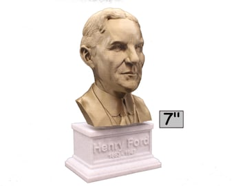 Henry Ford American Industrialist and Business Magnate 7 inch 3D Printed Bust