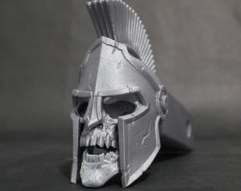 """Laughing Spartan Skull Trailer Tow Hitch Receiver Plug Cover that fits 2"""" Receivers for car, truck, or SUV"""