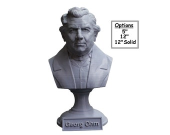 Georg Ohm Famous German Physicist and Mathematician 3D Printed Bust