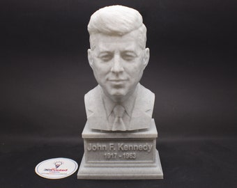 John F. Kennedy JFK USA President #35 7 inch 3D Printed Bust