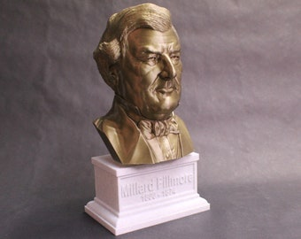 Millard Fillmore USA President #13 12 inch 2 color 3D Printed Bust