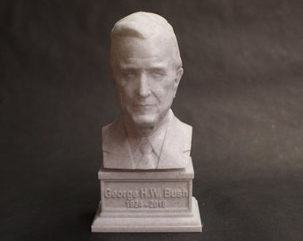 George H.W. Bush USA President #41 7 inch 3D Printed Bust