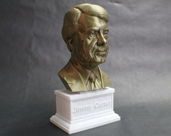Jimmy Carter USA President #39 12 inch 2 color 3D Printed Bust