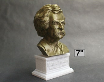 Mark Twain (AKA Samuel Clemens), American Writer, Humorist, Entrepreneur, and Lecturer 7 inch 3D Printed Bust