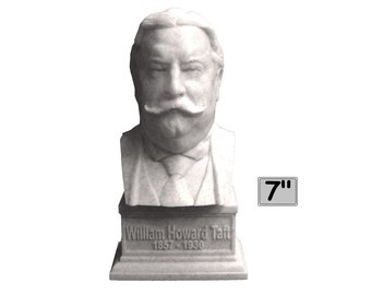 William Howard Taft USA President #27 7 inch 3D Printed Bust