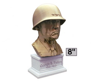 George S. Patton Legendary US Army General 8 inch  Bust