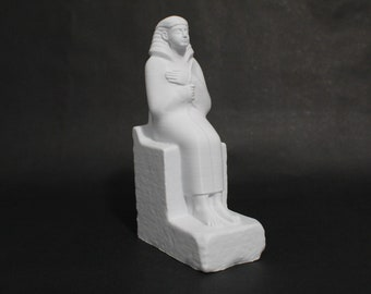 Statue of the Sealer Nemtihotep Seated (Nemti Hotep) 8in FDM 3D Printed Ancient Egyptian Statue