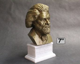 Frederick Douglass American Social Reformer, Abolitionist, Orator, Writer, and Statesman 7 inch 3D Printed Bust