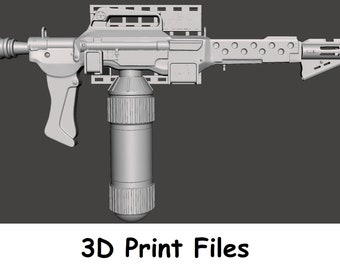 "M240 Flamethrower ""Bake-A-Flake"" With Custom Wall Mount Digital Files Complete with Finishing Guide for 3D printers"