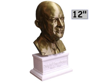 Dwight D. Eisenhower USA President #34 12 inch 2 color 3D Printed Bust