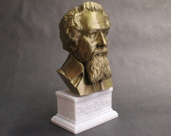 Charles Dickens English Writer and Social Critic 7 inch 3D Printed Bust
