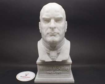 William McKinley USA President #25 7 inch 3D Printed Bust