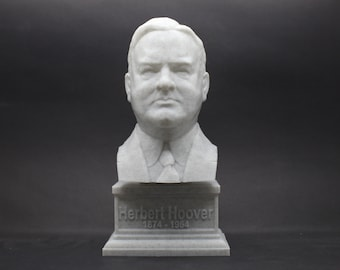 Herbert Hoover USA President #31 7 inch 3D Printed Bust