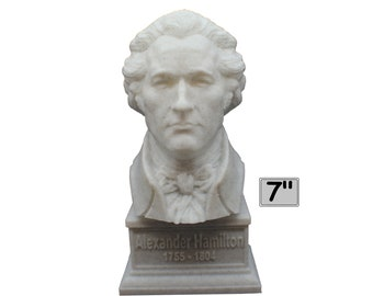 Alexander Hamilton Founding Father 7 inch 3D Printed Bust