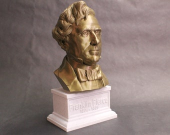 Franklin Pierce USA President #14 12 inch 2 color 3D Printed Bust