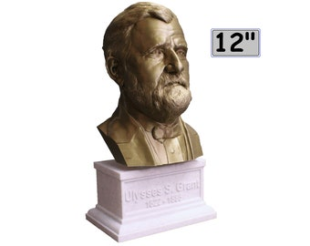 Ulysses S. Grant USA President #18 12 inch 2 color 3D Printed Bust