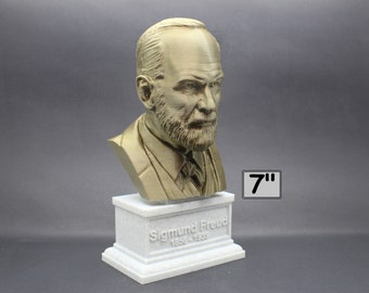Sigmund Freud Austrian Neurologist and founder of Psychoanalysis 7 inch 3D Printed Bust