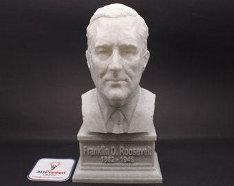 Franklin Delano Roosevelt FDR USA President #32 7 inch 3D Printed Bust
