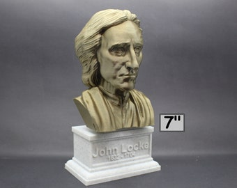 John Locke English Philosopher and Physician 7 inch 3D Printed Bust