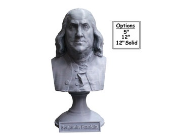 Benjamin Franklin Founding Father 3D Printed Bust