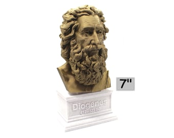 Diogenes The Cynic 7 inch 3D Printed Bust
