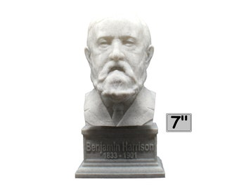Benjamin Harrison USA President #23 7 inch 3D Printed Bust