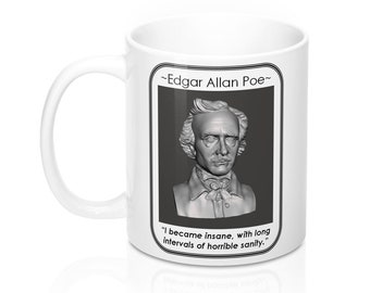 Edgar Allan Poe 11 oz Ceramic Coffee Mug with Handle