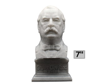 Grover Cleveland USA President #22 7 inch 3D Printed Bust