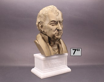 Eli Whitney Famous American Inventor 7 inch 3D Printed Bust