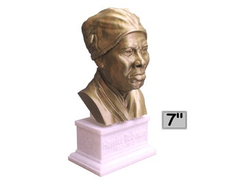 Harriet Tubman American Abolitionist and Political Activist 7 inch 3D Printed Bust